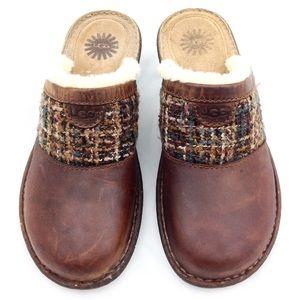 UGG Opaline Sheepskin Leather Clogs 9 @